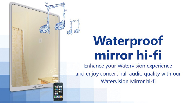 Waterproof Sound System For Bathroom Mirror Hi Fi